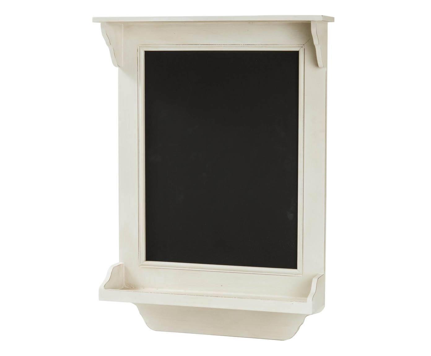 Mev1221 lavagna da muro legno bianco b b sas import export - Portaoggetti da muro ...