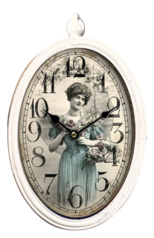 Ohlcq140354 orologio ovale da muro b b sas import export for Orologio muro vintage