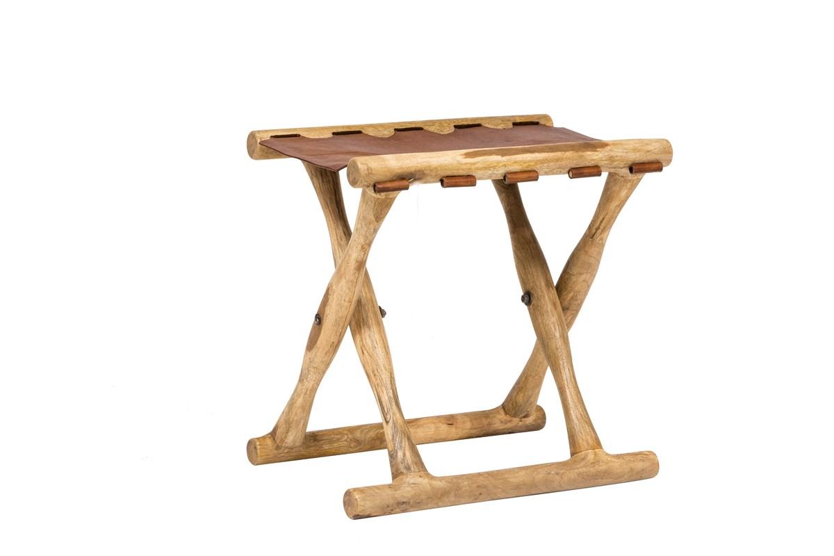 M sgabello legno cuoio u b b sas import export